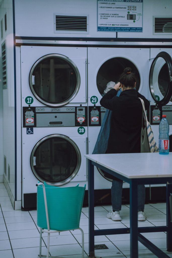 green laundry basket